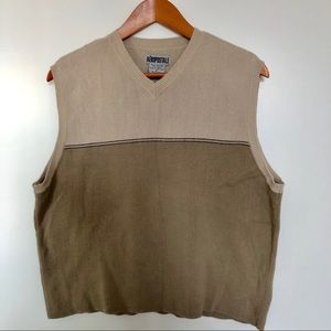 Aeropostale Sweater Vest - Tan - Small